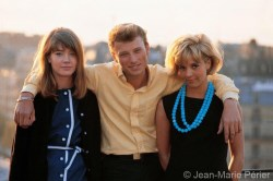 Françoise Hardy, Johnny Hallyday and Sylvie Vartan, Paris, April 1963