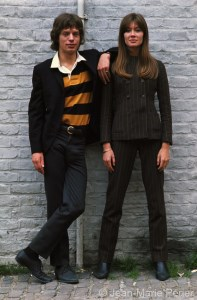 Françoise Hardy and Mick Jagger, London, July 1965