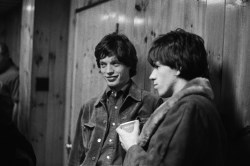 Mick and Keith backstage, USA, 1965