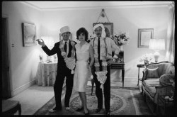 Jackie Kennedy, Oleg Cassini and Benno Graziani. London, March 1962.