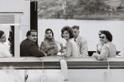 Jackie Kennedy on a boat, March 1962