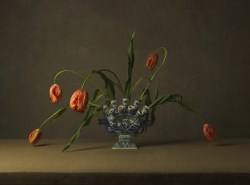 Vase and Orange Tulips, 2015