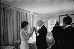 Jackie Kennedy et Cecil Beaton. Londres, mars 1962.