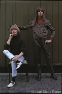 Françoise Hardy and Brian Jones, London, July 1965