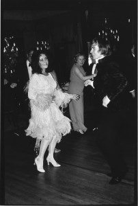 Liz Taylor and Rudolf Nureyev dancing together for the very first time. March 24, 1968.