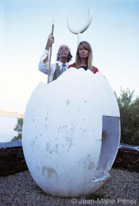 Françoise Hardy and Salvador Dali, Cadaqués, October 1968