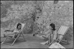 Jackie Kennedy et Lee Radziwill. Ravello, 6 août 1962.