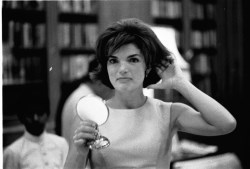 Jackie Kennedy during a trip to India. March 1962.