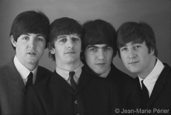 The Beatles, B&W portrait, Paris, March 1964